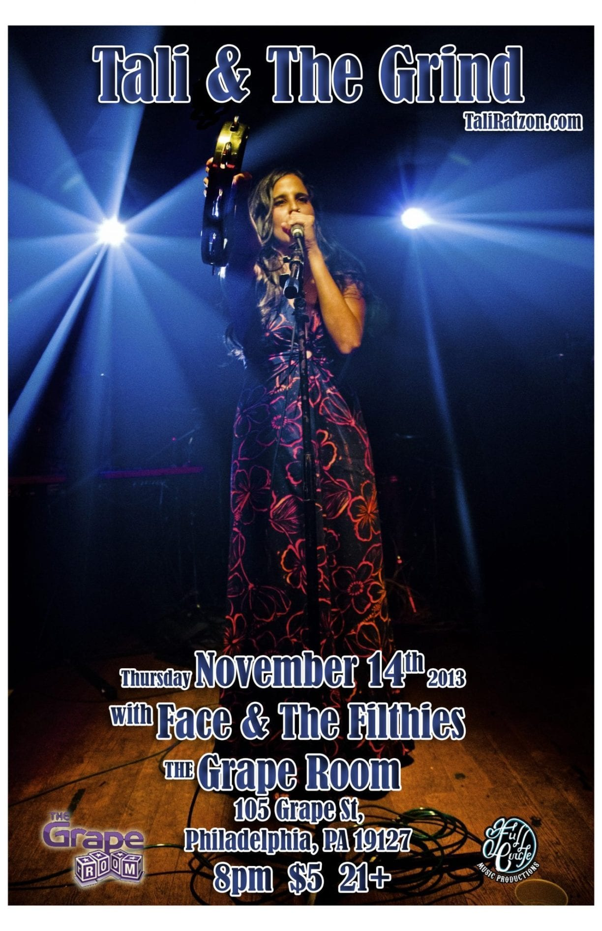 2013-11-14 Tali & The Grind & Face & The Filthies at The Grape Room_11x17 copy
